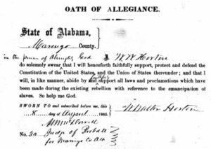 Oath of allegiance to the United States signed by DKE Founder and former Confederate soldier W. Walter Horton on August 8, 1865, after the end of the Civil War.